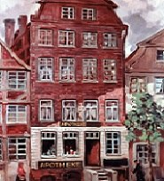 Pharmacy Mühlenstraße in Hamburg in 1882