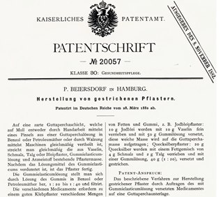 Patent in 1882