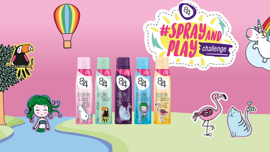 Beiersdorf 8x4 SPRAY AND PLAY Challenge Product Range