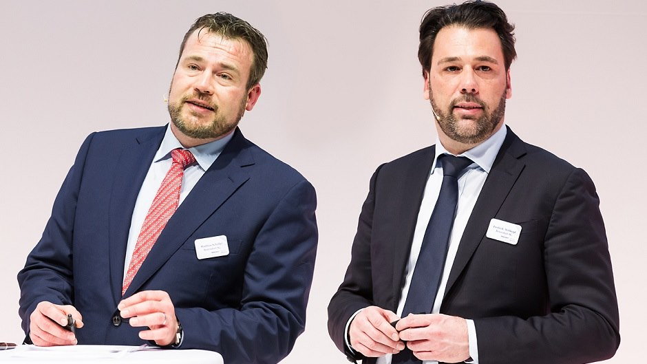 Matthias Scheller and Frederik Wittkopf, Managing Director of Beiersdorf Dermo Medical